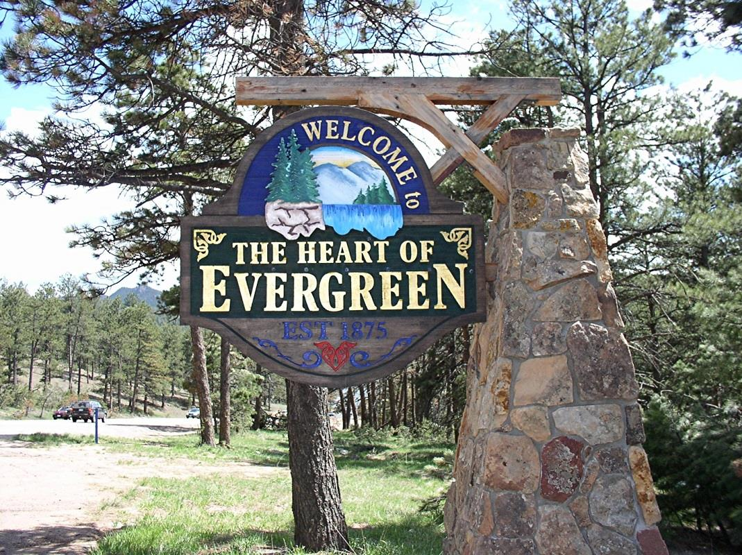 Heart of Evergreen Sign